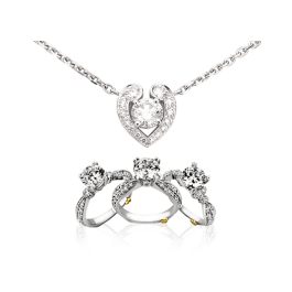 Diamond Pendant with Ring & Pendant