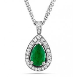 Diamond Pendant with Necklace