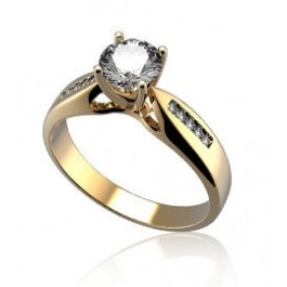 Gold Ring with Luxury Stone