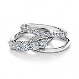 Platinum Ring with Curve Style